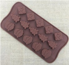 Christmas decorations Christmas tree chocolate Party DIY fondant baking cooking cake decorating tools silicone molds  20%off