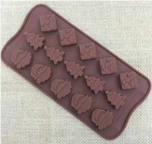 Image 1 - Christmas decorations Christmas tree chocolate Party DIY fondant baking cooking cake decorating tools silicone molds  20%off