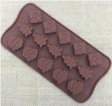 Yılbaşı süsleri Yılbaşı ağacı çikolata Parti DIY fondan pişirme pişirme kek dekorasyon araçları silikon kalıpları 20% kapalı