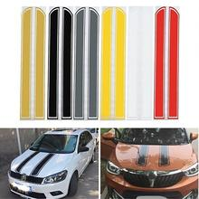 Auto Car Racing Rally Dual Stripes Hood Side Roof Tail Stickers Decals  Decor 20cm 450cm car vinyl decals hood stickers racing stripes