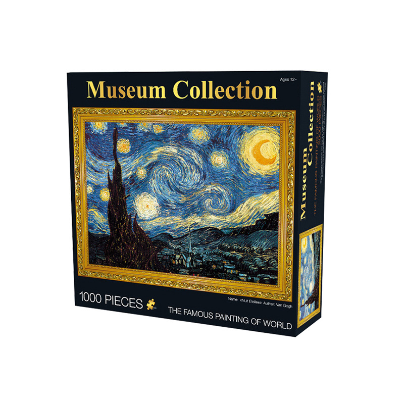 1000pcs Large World Famous Painting Grownups Puzzle Old Master Jigsaw Museum Collection Map Flowers Angel Girl Home Decor Gift