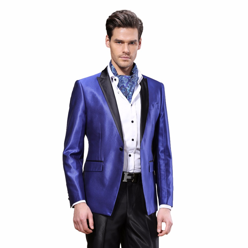 DARO (Jacket+Pants) Men Suits Jacket Fashion Skinny Business Dress Wedding Suits Casual Blazers ...