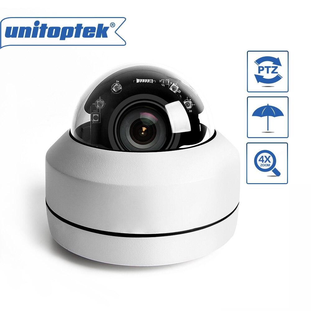 3 Inch Mini HD 1080P 5MP PTZ Dome IP Camera 4X Optical Zoom Motorized CCTV Security