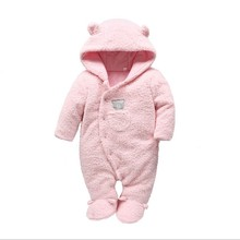 Tender Babies Newborn baby clothes bear onesie baby girl boy rompers hooded plush jumpsuit winter overalls for kids roupa menina цены онлайн