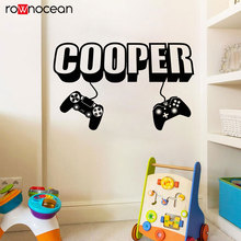 Gamer Wall Stickers For Kids Rooms Controller Video Game Wall Decals Vinyl Home Decor Interior Removable Murals Bedroom 3022 video game design removable wall stickers for kids room