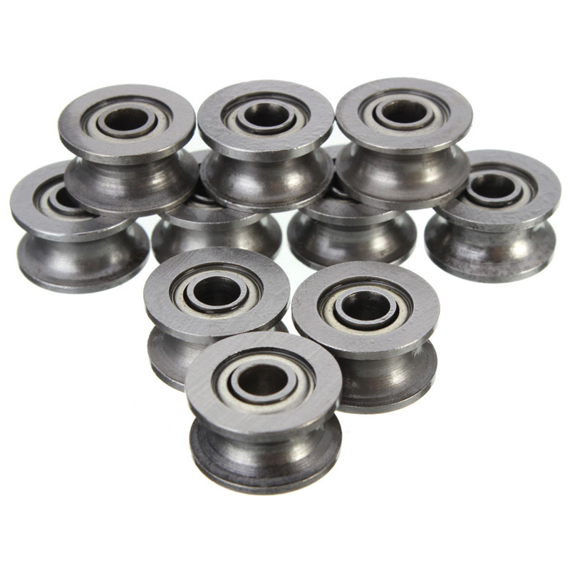 MTGATHER 10pcs/Set U624ZZ U Groove Sealed Ball Bearings high carbon steel Mechanical Parts Accessories 4mm x 3mm x 7mm mtgather durable steel 6800zz deep groove ball bearings two side metal shields 10x19x5mm mechanical parts accessories