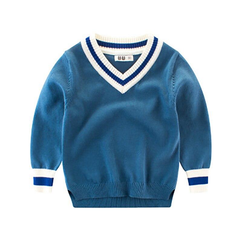 Pullover Ideacherry Baby Casual Stil Pullover Jungen Kinder Herbst Winter Gestrickte Pullover 3-8y Studenten Kind Kleidung V-ausschnitt Dicke Pullover Mangelware