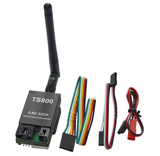 FPV 5.8G 1.5W 32CH A/V Transmitting (TX) Module Wireless Transmitter TS800 Support AAT Tracking Antenna 1500mw fpv 5 8g 600mw 32 channel wireless audio video a v transmitting receiving system combo module for fpv ts832 rc832
