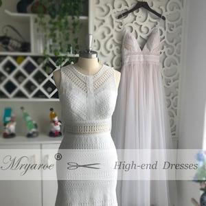 Image 2 - Mryarce New BOHO Chic Unique Lace Wedding Dress Bohemian Long Bridal Gowns Amazing Tassel Open Back vestido de noiva