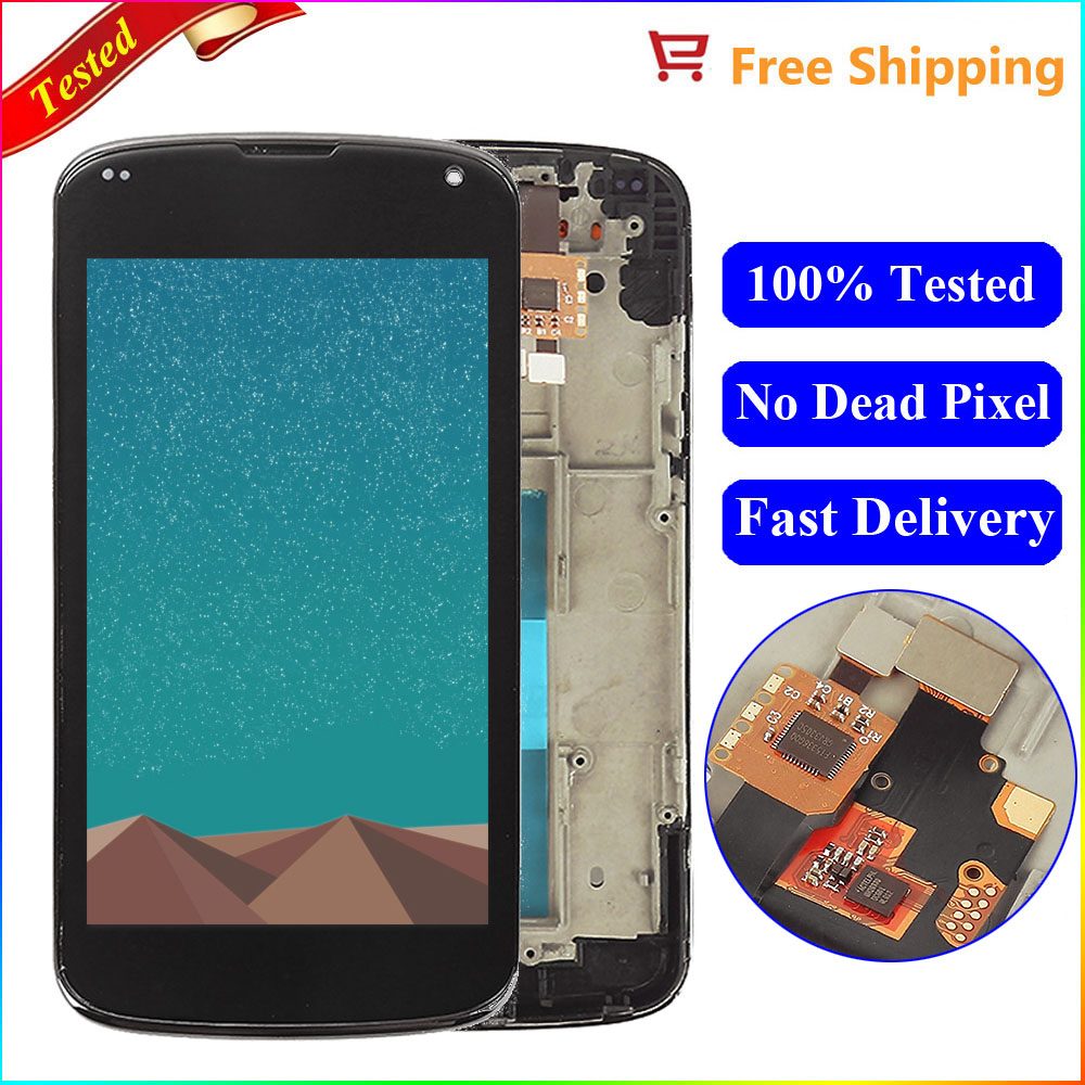 US $18 06 35% OFF|For Lg Nexus 4 Screen For LG Optimus Google Nexus 4 LCD  E960 Display touch Screen Digitizer with Frame Assembly Replacement Part-in