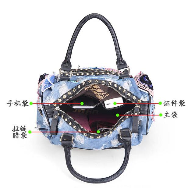 Cute Cartoon Denim Fashion Shoulder Bag