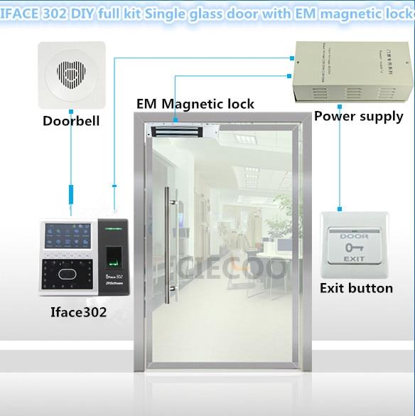 iface библиотека распознавание лиц - Face recognition iface302 RFID card reader for single glass door DIY full kit with electromagnet lock em lock LZ bracket CE SDK