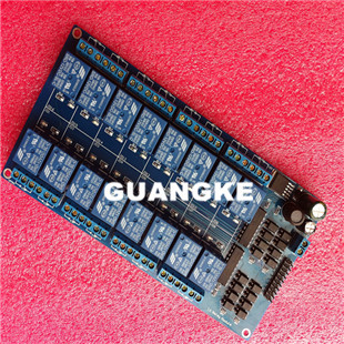 Free shipping 12V 16 Channel Relay Module Interface Board For PIC ARM DSP PLC With Optocoupler