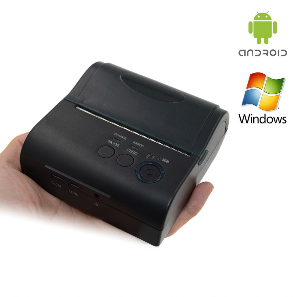 VOXLINK 80mm Portable Wireless Bluetooth 4.0 Receipt Thermal Printer For Windows Android Mobile Phone Printers zj 8001 portable thermal printer support for computer apple android mobile phone 80mm bluetooth wireless receip print