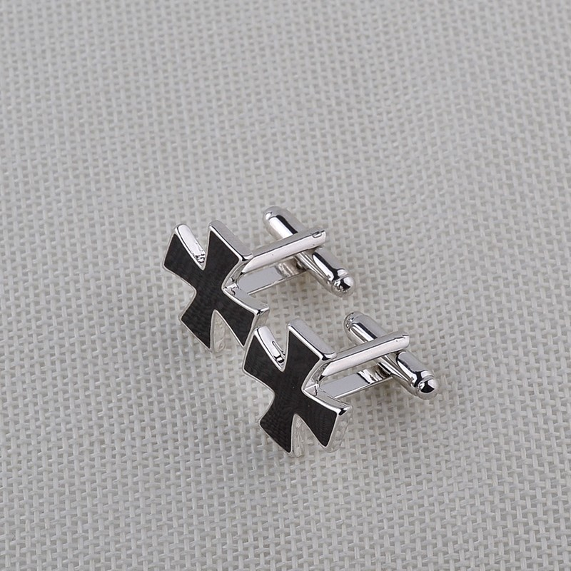 HTB1Ve dKXXXXXXFXpXXq6xXFXXXL - Black Cross Shaped Cufflinks