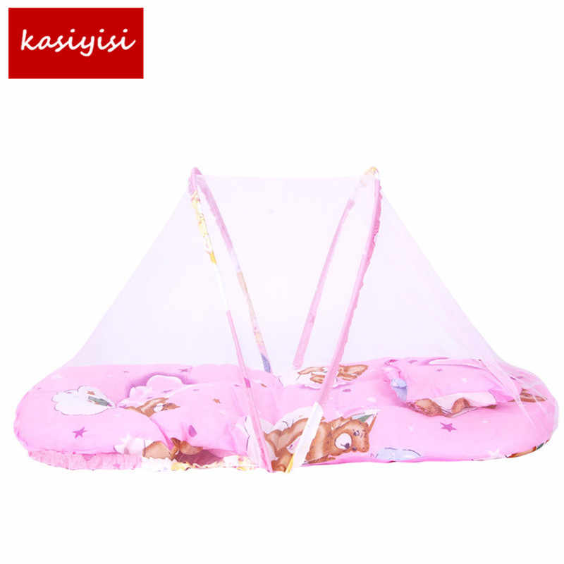 Baby Bed Nets Folding Mosquito Nets Infants Young Children Sleeping Pad Pillow Bedspread Mosquito Net Cartoon Cotton Bedspread