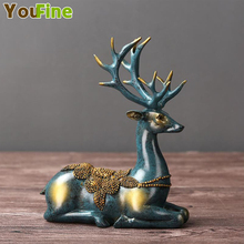 Home decoration crafts resin deer modern minimalist lucky crafts sculpture statue gift collection [funny] collection crafts sword of the berserk nosferatu zodd fushi no zoddo figure statue bust dragon mountain resin model gift