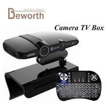 HD23 Android TV Box Construit en Caméra Allwinner H3 EU3000 Quad Core Smart IPTV 1 GB 8 GB Android 4.4 HDMI XBMC OTG DSP Micro Haut-Parleur