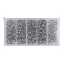 200PCS Heavy Duty Stainless Steel Fishing Split Rings Lure Solid Ring Loop For Blank Crank Bait Connectors Tackle Tool Kit