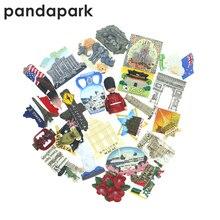 PANDAPARK 3D смолы Париж Лондон магнит Сувенирный ручной цветной город стикер с достопримечательностями Кухня украшения сообщение путешествия