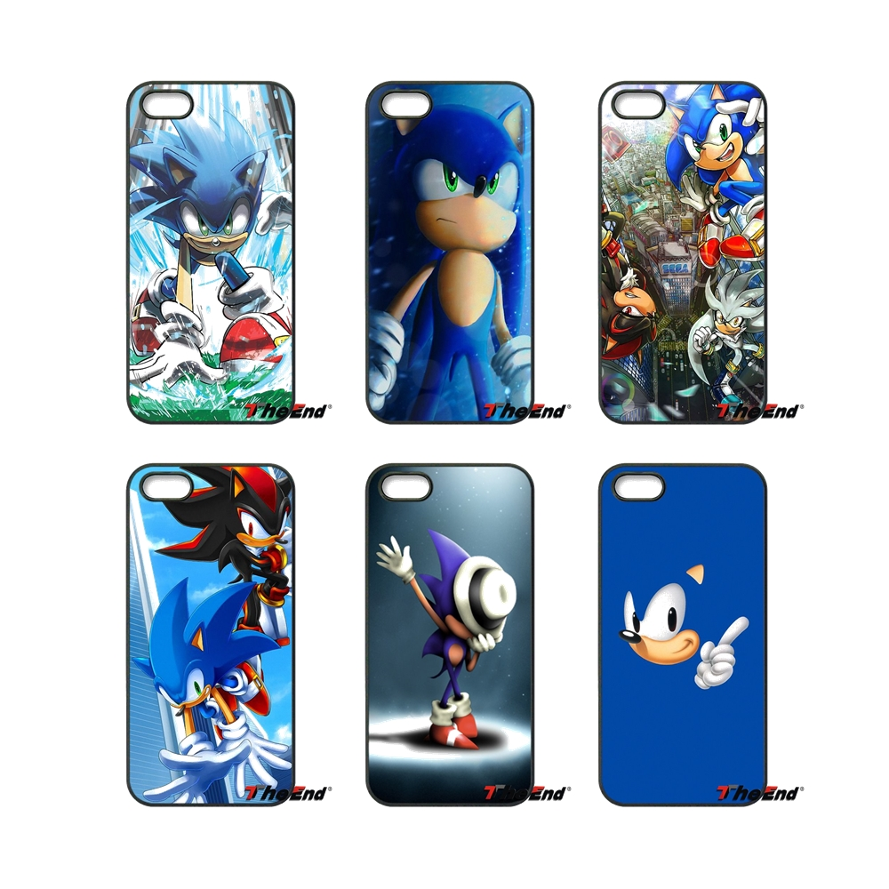 sonic the Hedgehog Shadow For iPod Touch iPhone 4 4S 5 5S 5C SE 6 6S 7 Plus Samung Galaxy A3 A5 J3 J5 J7 2016 2017 Case Cover