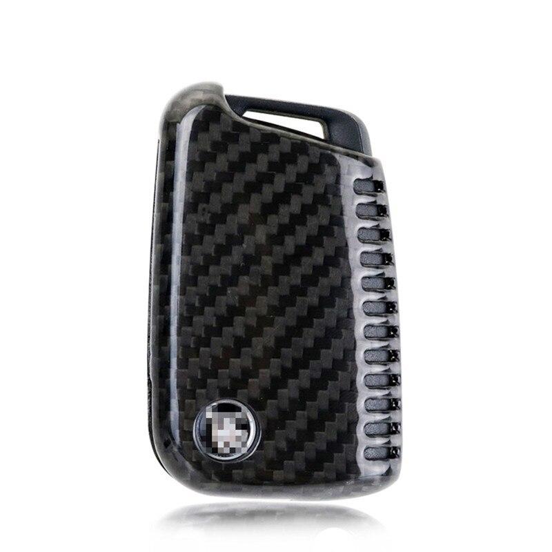 Teeze nouvelle marque de haute qualité nouvelle vraie Fiber de carbone Auto à distance Flip porte-clés titulaire peau coque étui pour VW série B Style