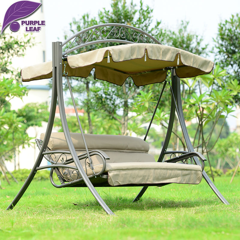 Purple Leaf Patio Swing Lawson Ridge 3 Person Hammock Outsunny Covered Outdoor  Porch Bed With