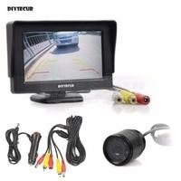 DIYSECUR IR Night Vision Waterproof Rear View Backup Car Camera Parking Camer + 4.3 inch LCD Display Car Monitor Parking System