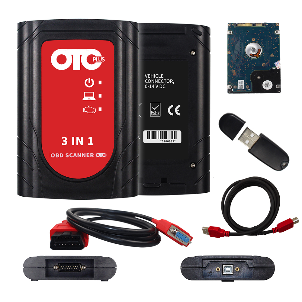 Image 2 - OTC Plus 3 in 1 Diagnostic Tools For nissan consult For toyota Intelligent Tester For volvo vida dice OBD Scanner GTS With HDD-in Car Diagnostic Cables & Connectors from Automobiles & Motorcycles on