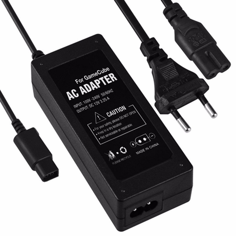 Power Supply for nintendo for GameCube video game console made by third party factory AC DC adapter 100-240V 60HZ 0 6A EU US