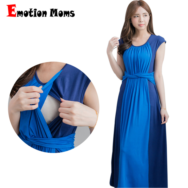 bcd35dac8efbc Emotion Moms Party pregnancy Maternity Clothes Maternity Dresses  breastfeeding clothes for Pregnant Women feeding Nursing Dress