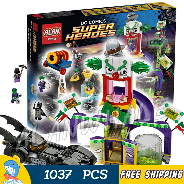1037pcs Super Heroes Batman Movie Joker Jokerland Robin Beast Boy sy512 Model Building Blocks Toys Bricks Compatible with Lego building blocks super heroes back to the future doc brown and marty mcfly with skateboard wolverine toys for children gift kf197