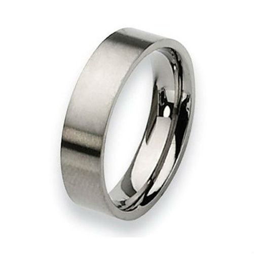 c26acdd4bd007 Tailor Made Pipe Cut Titanium Ring Brushed Flat Wedding Band Size 3 18  whole, half & quarter (#TR03)-in Rings from Jewelry & Accessories