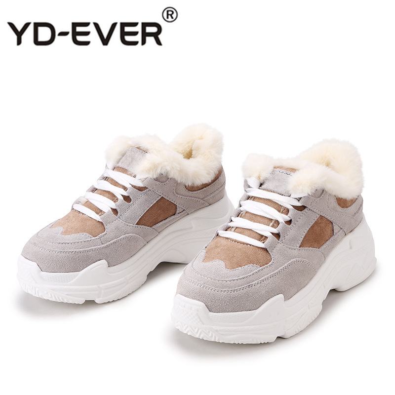 Lady Plate Chaussure kaki Marque De Patchwork Dame D'hiver Femelle Casual Yd Chaussures Sneakers forme Mode ever Chaud Femmes Gris Qrtshd