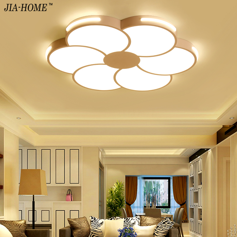 Ceiling Lights & Fans Supply Led Ceiling Light Modern Lamp Living Room Lighting Fixture Bedroom Kitchen Surface Mount Flush Panel Remote Control