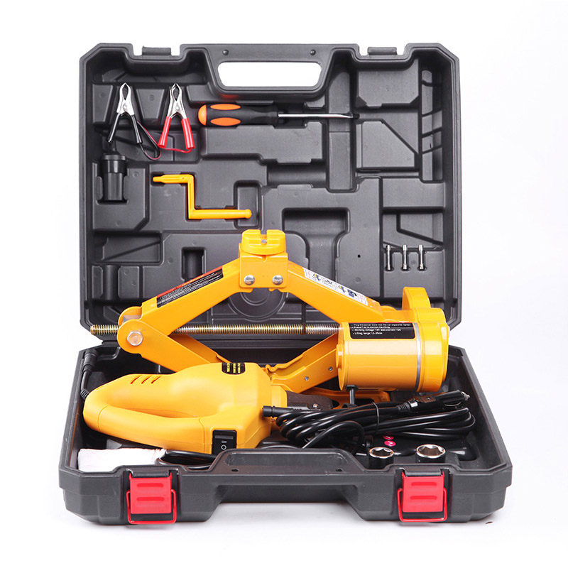 2 Ton Lifting Car Electric Jack Car Air Pump Car Electric Wrench Auto Multi-function Maintenance Tools Impact Wrench With Drop