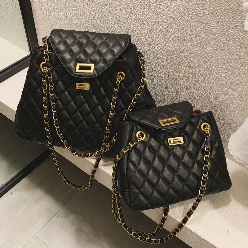 Luxury Brand Handbag 2019 New Quality PU Leather Women's Designer Handbag Classic Lattice Chain Large Shoulder Messenger Bags