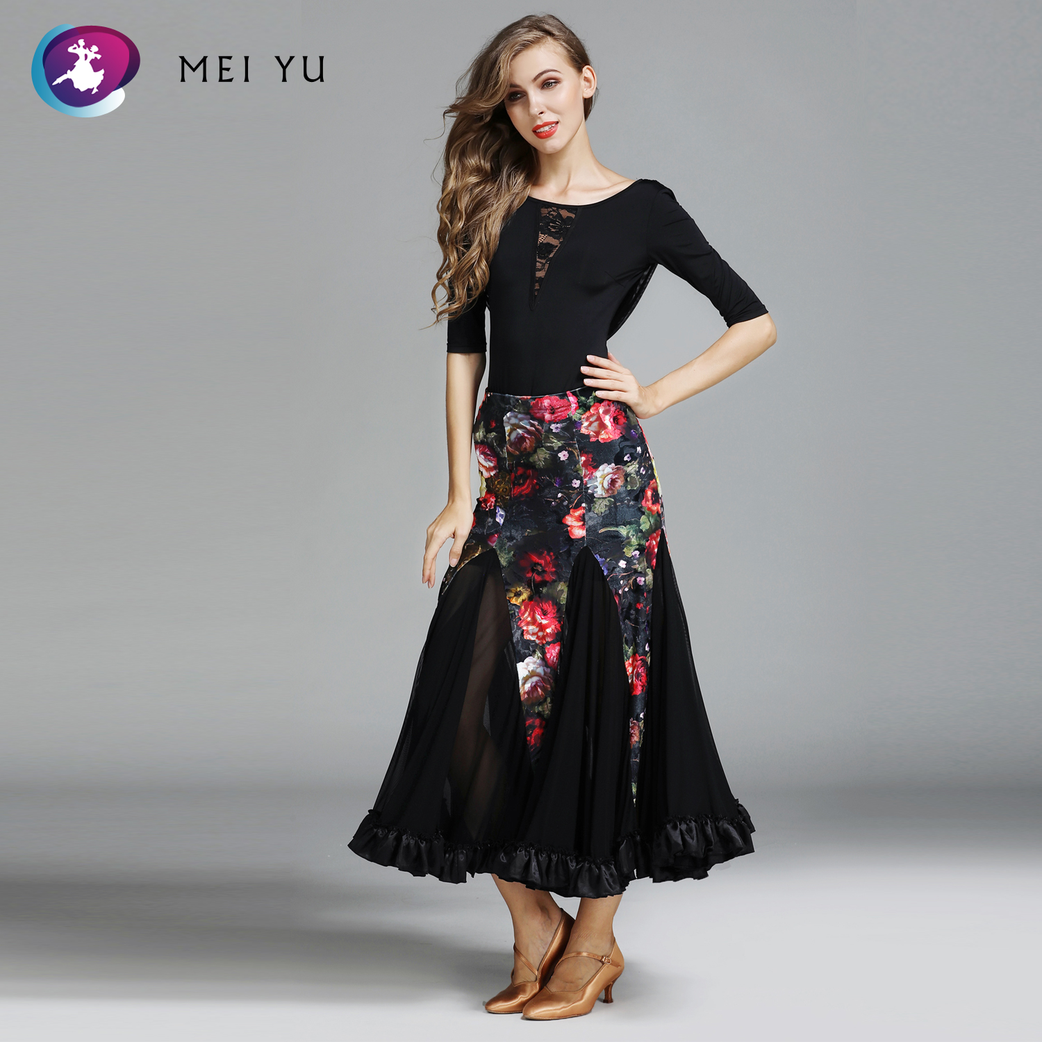 Liberal Mei Yu My777 And My778 Modern Dance Costume Top And Skirt Suits Women Lady Dancing Dresses Ballroom Costumes Evening Party Dress In Pain Novelty & Special Use