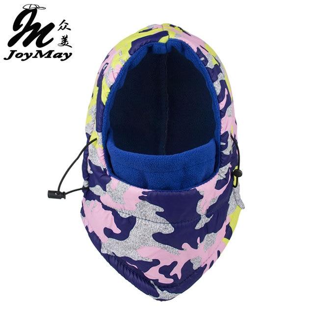 Joymay Winter Warm Fleece Beanies Hats For Men&Women Waterproof Skull Bandana Neck Warmer Balaclava Ski Snowboard Face Mask W223
