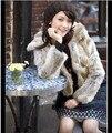 Nueva Genuino Real Natural Rex Rabbit Fur Coat Invierno de Las Mujeres wholsale Chaqueta de encargo cualquier tamaño