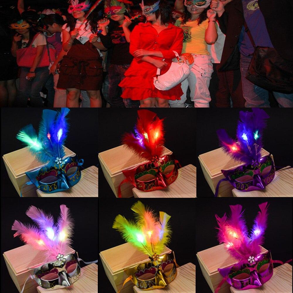 antiestrs juguetes divertidos para adultos nios caliente mujeres venetian led princesa fiesta de mscaras de plumas mscara d