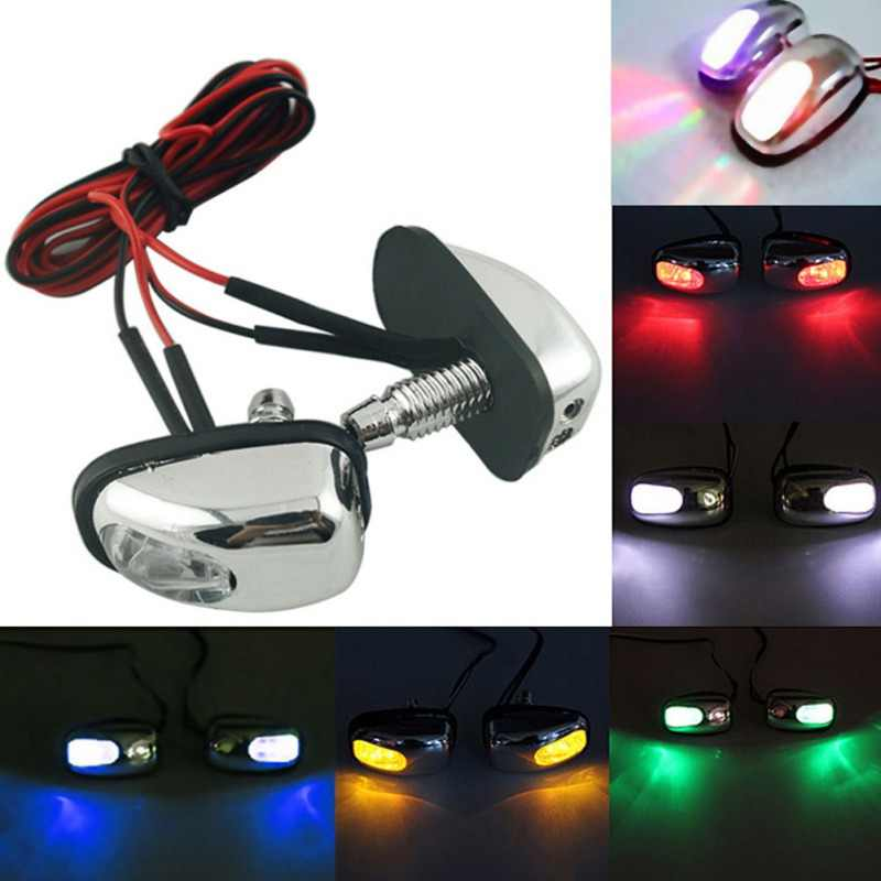 2019 2Pcs Car LED Lights Windshield LED Lamp Wiper Jet Water Spray Decorative Light Multi-Color Optional