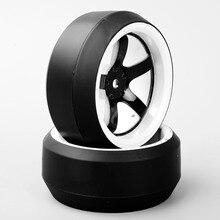 1/10 Wheel Rim RC Drift Tires Fit HPI 1:10 On-Road Racing Car 3 Degree 12mm Hex Accessory цена
