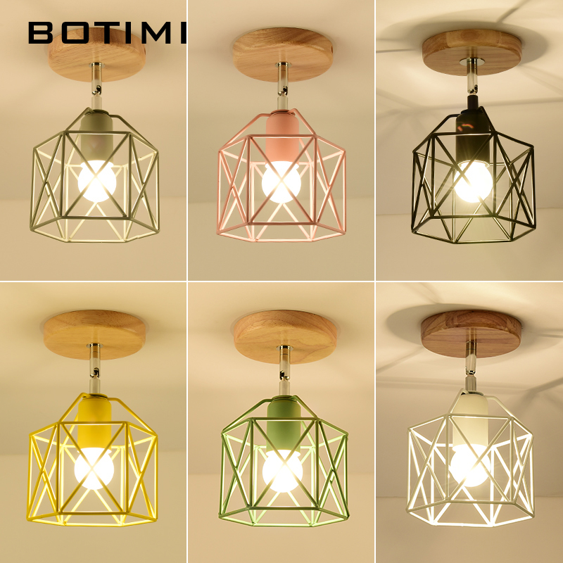 BOTIMI Modern LED Ceiling Lights With Metal Lampshade For