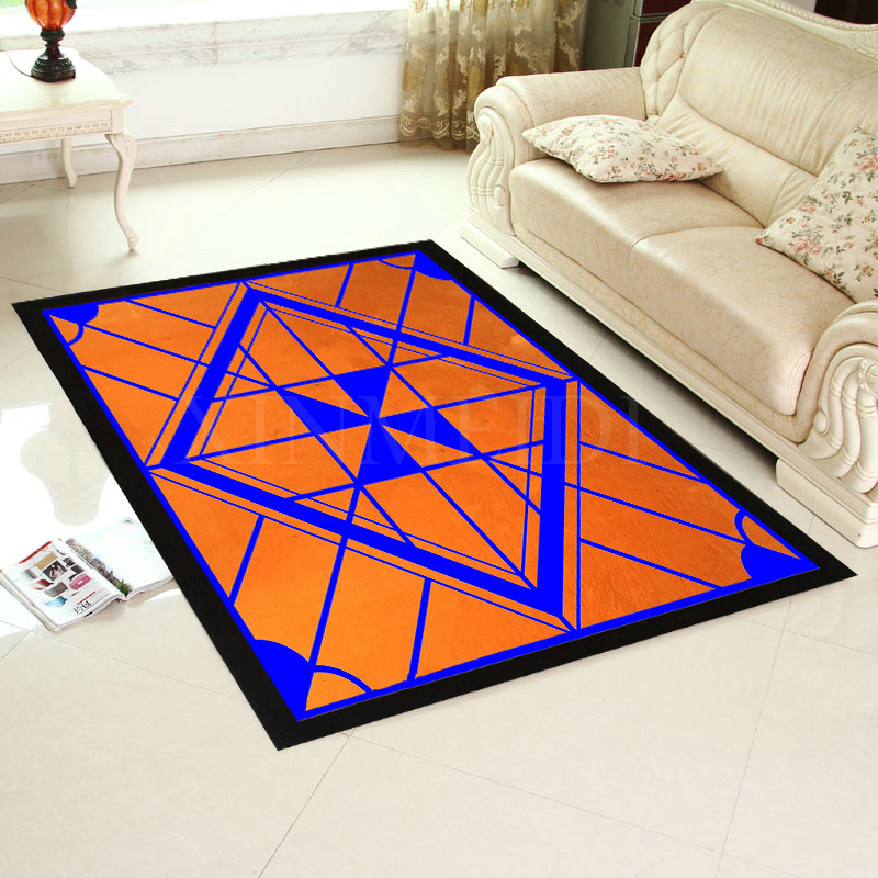 Friendly Custom Made Logo Carpet Alfombras Modern Handmade Carpets Living Room Bedroom Fashion Creative Coffee Table Sofa Tapete Home & Garden Carpets & Rugs