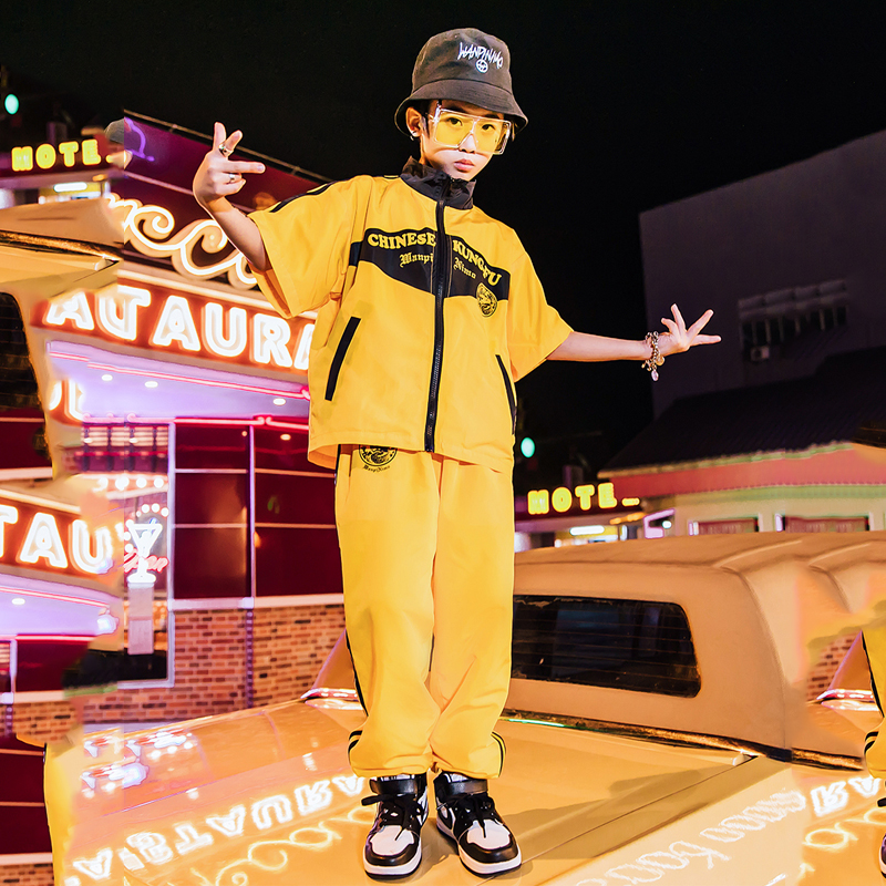 New Children Jazz Dance Costumes For Boys Hip Hop Performance Dancing Clothes Chinese Tang Suit Stage Costumes Wear DQS2139