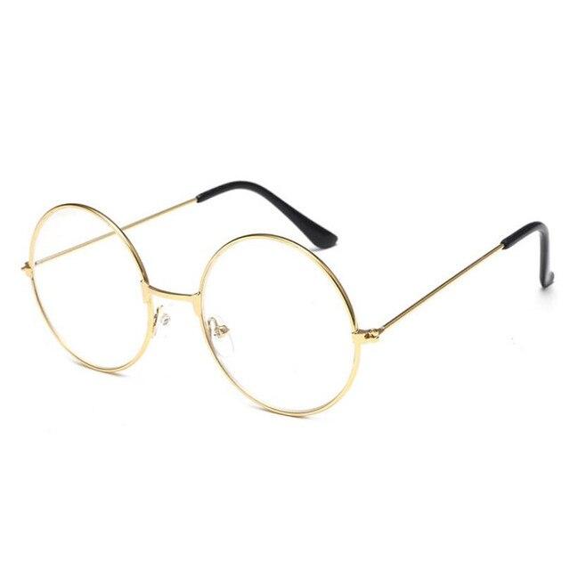 2017 New Classic Vintage Glasses Frame Round Lens Flat Myopia Optical Mirror Simple Metal Women/Men Glasses Frame 4