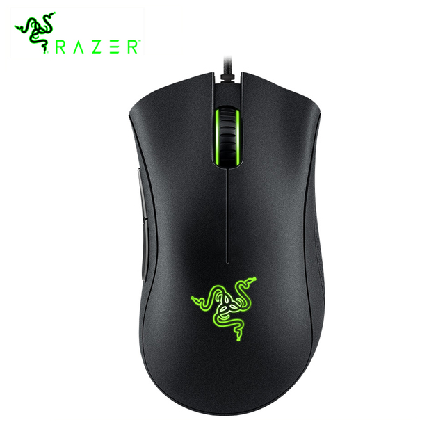 Razer DeathAdder Essential Ergonomic Professional-Grade Gaming Mouse 6400 DPI Optical Sensor Gamer For Computer Laptop PC Mices