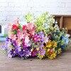 1 Bunch 28 Head Cineraria Artificial Flower Bouquet Home Office Decor silk daisy artificial decorative indoor outdoor A12150