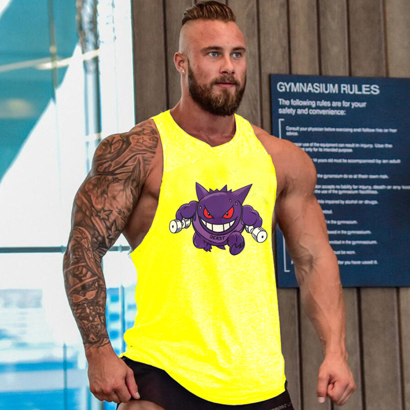 2018 The latest Ghost brand clothing / fitness / mens sleeveless vest / turtle hat / printing / card request / sleeveles